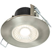 Collingwood DT4 Fixed  Fire Rated LED Downlight Brushed Steel 490lm 4.6W 240V