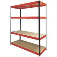 RB Boss Powder-Coated Boltless Freestanding Shelving 4-Tier 1600 x 600 x 1800mm