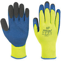 UCI KoolGrip Thermal Latex Grip Gloves Yellow Large