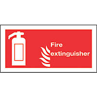"""Fire Extinguisher"" Sign 100 x 200mm"