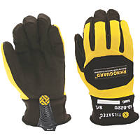 Tilsatec 49-6220 Rhinoguard Needlestick Cut 5/E Gloves Black / Yellow Large