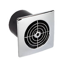 Manrose LP100SS 15W Bathroom Extractor Fan  Chrome 240V