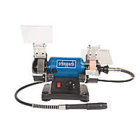 Scheppach HG 34 75mm Electric Bench Grinder & Polisher & 100 Piece Accessory Kit 230V