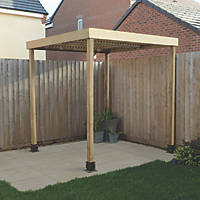Forest  Pergola with No Sides Natural Timber 1970 x 1970 x 2045mm