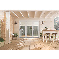 Jeld-Wen Bedgebury 3-Door Satin Painted White Wooden Slide & Fold Patio Door Set 2094 x 2394mm