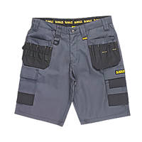 "DeWalt Ripstop Multi-Pocket Shorts Grey / Black 36"" W"
