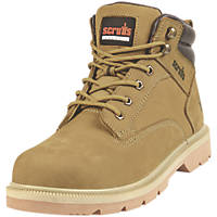 Scruffs Verona   Safety Boots Tan Size 8