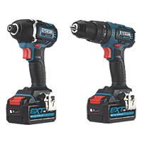 Erbauer EID18-Li/ECD18-Li-2 18V 4.0Ah Li-Ion EXT Brushless Cordless Combi Drill & Impact Driver Twin Pack