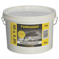 Tornado Barbed Fencing Staples 40 x 4mm 5kg