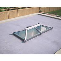 ATT Fabrications Ltd Transparent Glass Roof Lantern White 2000 x 1000mm
