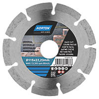 Norton  Masonry/Stone Segmented Diamond Cutting Blade 115 x 22.23mm