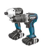 Erbauer ERI716KIT 18V 2.0Ah Li-Ion  Brushless Cordless Combi Drill & Impact Driver Twin Pack