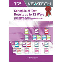 Kewtech TC5 Schedule of Test Results Up To 12 Ways 40 Certificates