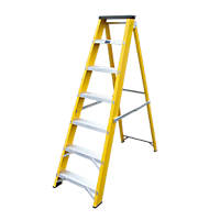 Lyte GFBB7 Swingback Builders Stepladder Fibreglass 7-Tread 1.44m