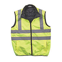 "Site  Reversible Hi-Vis Body Warmer Yellow Large 48"" Chest"