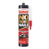 Unibond No More Nails Solvent-Free Grab Adhesive White 365g