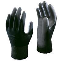 Showa BO500 PU Palm Fit Gloves Black Large