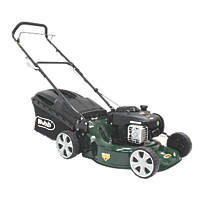 Webb WER18HP 46cm 125cc Hand-Propelled Rotary 3-in-1 Petrol Lawn Mower