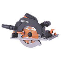 Evolution R185CCSX 1600W 185mm  Electric Multi-Material Circular Saw & Track 110V