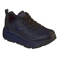 Skechers Max Cushioning Elite Sr Metal Free Ladies Non Safety Shoes Black Size 4