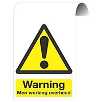 """Warning Men Working Overhead"" Sign 500 x 300mm"