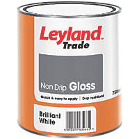 Leyland Trade Trade Non-Drip Gloss Paint White 750ml