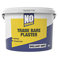 No Nonsense Bare Plaster Paint White 10Ltr