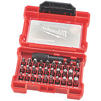 "Milwaukee Shockwave Impact Duty ¼"" Straight Shank Mixed Screwdriver Bit Set 31 Pieces"