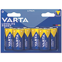 Varta Longlife Power D High Energy Batteries 6 Pack