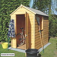 Shire 4' x 6' (Nominal) Apex Shiplap T&G Timber Shed