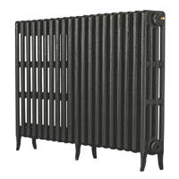 Arroll  4-Column Cast Iron Radiator 760 x 1234mm Pewter 6203BTU