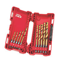 Milwaukee Hex Shank RedHex HSS Metal Drill Bit Set 10 Piece Set