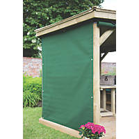 Forest Green Acrylic Gazebo Curtains 2 x 2.20m 6 Pack