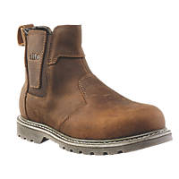 Site Mudguard Safety Dealer Boots Brown Size 9