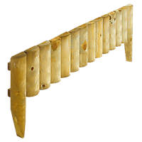 Rowlinson Border Fence Natural Timber 1m 4 Pack
