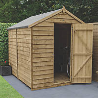 Forest  6' x 8' (Nominal) Apex Overlap Timber Shed with Base & Assembly