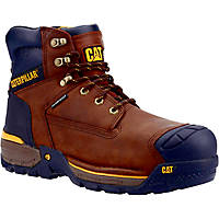 CAT Excavator   Safety Trainer Boots Espresso Size 6