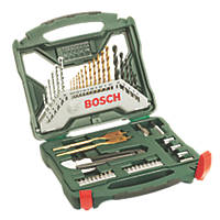 Bosch Straight & Hex Shank Mixed Drill & Screwdriver Bit Set 50 Pieces