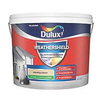 Dulux Weathershield Smooth Masonry Paint County Cream 10Ltr