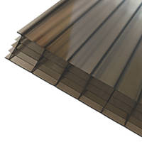 Axiome Fivewall Polycarbonate Sheet Bronze 690 x 25 x 2500mm