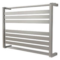 GoodHome Loreto Horizontal Water Towel Warmer 600 x 800mm Grey / Silver 1825BTU