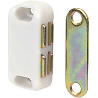 Magnetic Cabinet Catch White 42 x 20mm 10 Pack