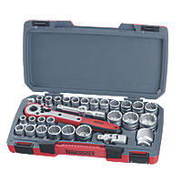"Teng Tools T1230 1/2"" Drive Socket Set 30 Pieces"