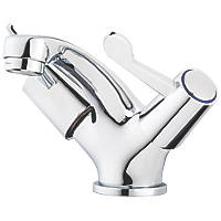 Swirl Commercial Basin Mono Mixer Tap with Clicker Waste