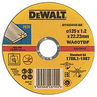 "DeWalt DT42340TZ-QZ Stainless Steel Cutting Disc 5"" (125mm) x 1.2 x 22.23mm 10 Pack"