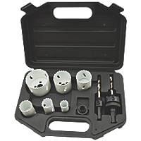 Multi-Material Plumbers Bi-Metal Holesaw Set 9 Pieces