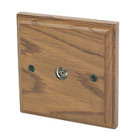 Varilight  Coaxial TV Socket Medium Oak