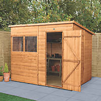"Forest Delamere 7' 6"" x 6' (Nominal) Pent Shiplap Timber Shed with Assembly"