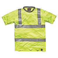 "Dickies SA22080 Hi-Vis T-Shirt  Saturn Yellow Large 46"" Chest"