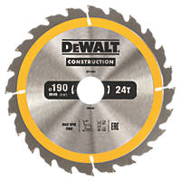 DeWalt TCT Saw Blade 190 x 30mm 24T